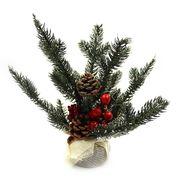 DSCN1044 Новогод. декор. украш. Елочные ветки в мешочке Ягоды 26см, 1шт/этик. (120)