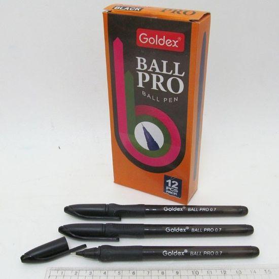 Ручка шариковая черная 0,7 мм с грипом  Ball pro #1201 Goldex Josef Otten