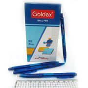 1412-BL Ручка масл. автомат. Goldex Cuba Tinted Индия Blue 0,7мм с грипом, 50шт/карт.уп., mix (1000/