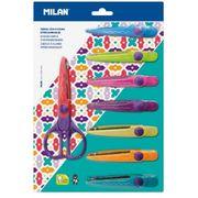 Ножиці дитячі зі змінними 8 різнокольоровими лезами. Розмір 16х7 см на блістері TM MILAN 14930908