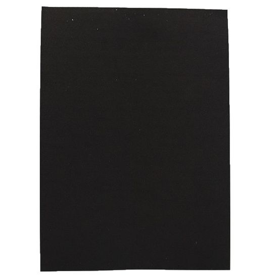 Фоаміран А4 чорного кольору, товщина 1.5 мм, 10 аркушів з клеєм Josef Otten 15KA4-7041
