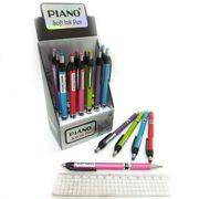 Ручка масляна автоматична синя 0.5 мм Color Piano PB-165-C