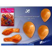 167-1 Возд.шар 10 металлик Оранжевый  (100pcs/уп.) (200)