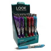 Ручка масляна автоматична синя 0.7 мм з гумовим тримачем Look Vinson 168