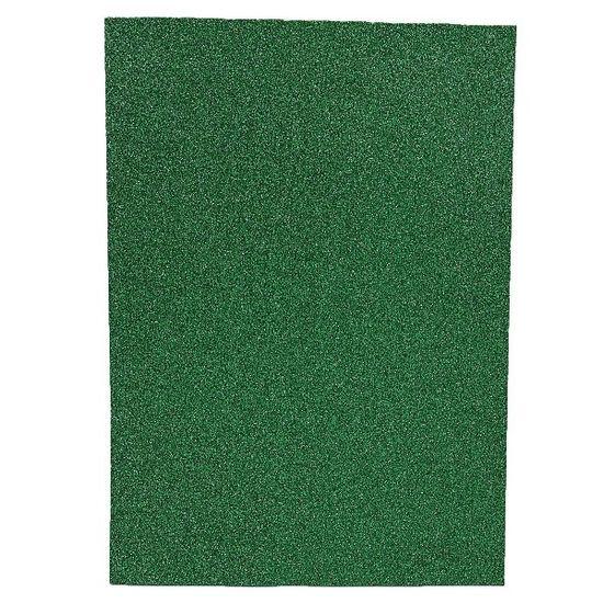 17GLA4-050 Фоамиран EVA 1.7±0.1MM Темно-зеленый GLITTER HQ A4 (21X29.7CM) 10 лист/п./этик. (1)