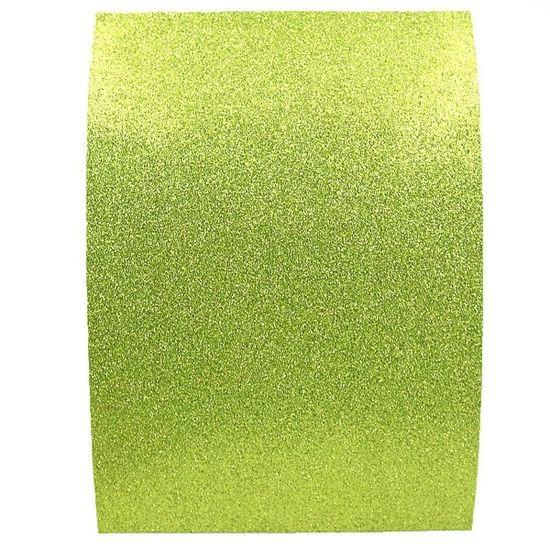 17GLKA4-057 Фоамиран EVA 1.7±0.1MM Салатовый GLITTER HQ A4 (21X29.7CM) с клеем, 10 лист./п./этик.