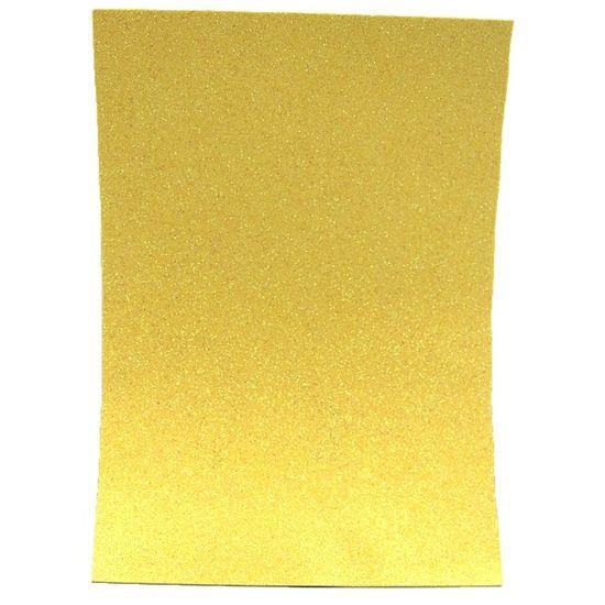 17IKA4-7122 Фоамиран EVA 1.7±0.1MM Желтый IRIDESCENT HQ A4 (21X29.7CM) с клеем, 10 лист./п./этик.