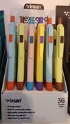 Ручка масляна автоматична синя 0.7 мм з гумовим тримачем Exceed Х1 Vinson