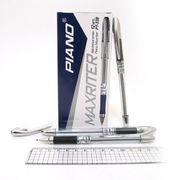 Ручка масляна чорна 0.5 мм з гумовим тримачем Maxriter Piano PT-338