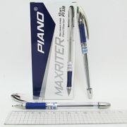 Ручка масляна синя 0.5 мм з гумовим тримачем Maxriter Piano PT-338