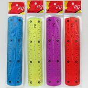3430-15 Линейка силиконовая гибкая Flex 15см, mix (этикетка) (50)