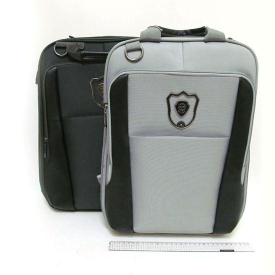3902-А Рюкзак-сумка Черный-Серый mix отд. ноутбук орг 43*29*5см, (1)