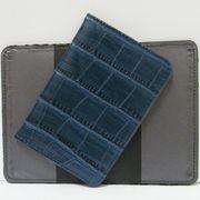 Р-4012 Обложка для паспорта Синяя кожа (10/400)