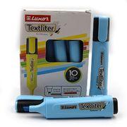 Маркер текстовиділювач Luxor Textliter 1-4,5 мм, синій 4015 (10/100/400)
