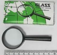 7805-40G Лупа d-40мм, стекл.линза, пластик.оправа (40-YB) (YB19013-40) (10/800)