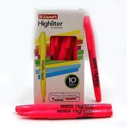 Маркер текстовий Luxor Highliters 1-3,5 мм, рожевий 4144 (10/100/800)