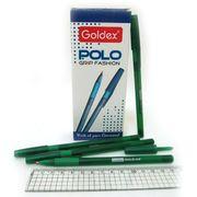 Ручка масляна зелена 1.0 мм з гумовим тримачем Polo grip Fashion Goldex 422-GR