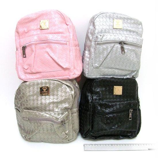 4240 Рюкзак молодежный кожа Плетение 23*21*11см, mix4 (5)