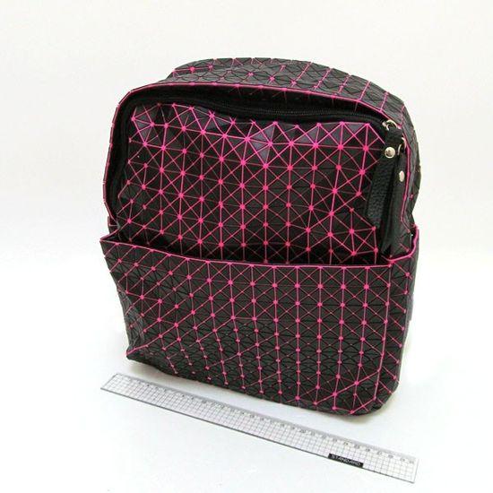 4474-13 Рюкзак молодежный Компакт, черный с розовым, 25*30*12см (1)