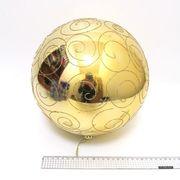 Куля новорічна 25 см, глянцева Велика золота з візерунком Josef Otten 4825-25U-G
