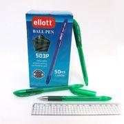 Ручка кулькова зелена 1.0 мм з гумовим тримачем Ellot 503 Josef Otten 7704