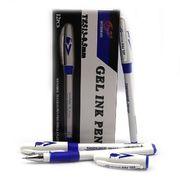 Ручка гелева синя 0.5 мм з гумовим тримачем Tianjiao TZ513