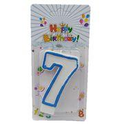 Свічка для торта з блискітками  Цифра 7  Josef Otten DSCN5151-7 (1/12/600)