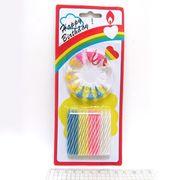 5158 (10453) Набор свечей для торта Happy Birthday 0,4*5,5см, mix,24шт, без/этик. (24)
