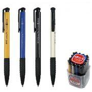 Ручка кулькова автоматична синя 0.7 мм з гумовим тримачем Tianjiao TY51840