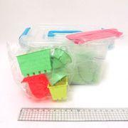 5439-4 Набор кинетич. песка в пластик.контейнере 1кг с форм.6шт. и стеками 5шт., mix6 (кварц.основа)