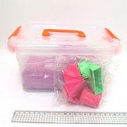 5439-8 Набор кинетич. песка в пластик.контейнере 2кг с форм. 6шт., mix6 (кварц.основа) (1)