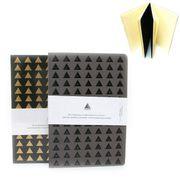 Блокнот діловий А5 112 аркушів кремовий папір в лінію прошивний шкіряна м'яка обкладинка Треугольники Josef Otten IMG_5581