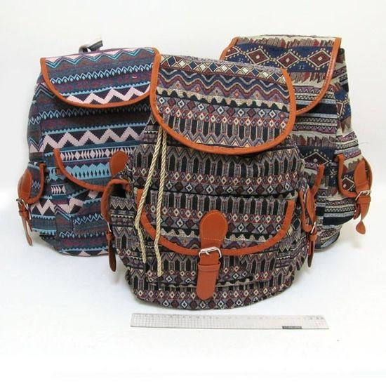 5982 Рюкзак молодежный Зигзаг 40*32*15см, mix3 (10)