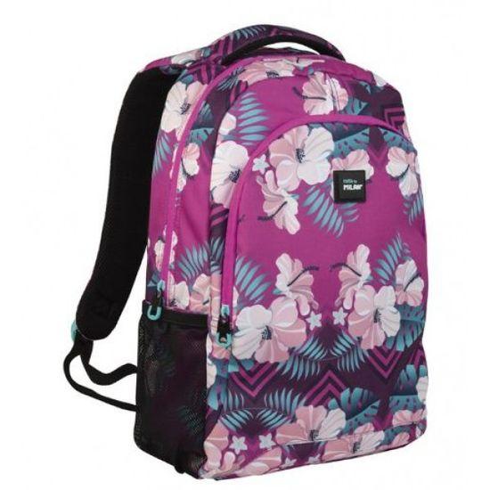 624601IS Рюкзак TM Milan Hibiscus 2отд, карман для ноутбука, 17л 44х30х12см (1)