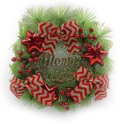 6526-106 Венок новогодний Merry Christmas D37см, 1шт/этик. (40)