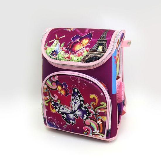 7225G-3 Рюкзак коробка разб. Бабочки 34*25*13см, усиленная спина (5)