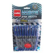 Ручка масляна синя 0.7 мм з гумовим тримачем Maxriter Cello 727