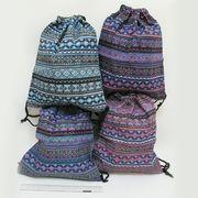 7646-2 Мешок для обуви Узор 41*34см, mix (12)