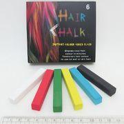 B357-6 (8357-6) Мел для волос, набор 6 цветов, 6,5х1х1см (24/240)