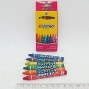 8496-6 Мелки восковые Crayons, набор 6 цв. 0,9*80мм, без этикетки (240)