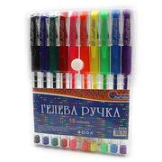 Набір гелевих ручок 0.5 мм 10 кольорів неон з гумовим тримачем Josef Otten 888B-10