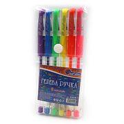Набір гелевих ручок 0.5 мм 6 кольорів неон з гумовим тримачем Josef Otten 888B-6