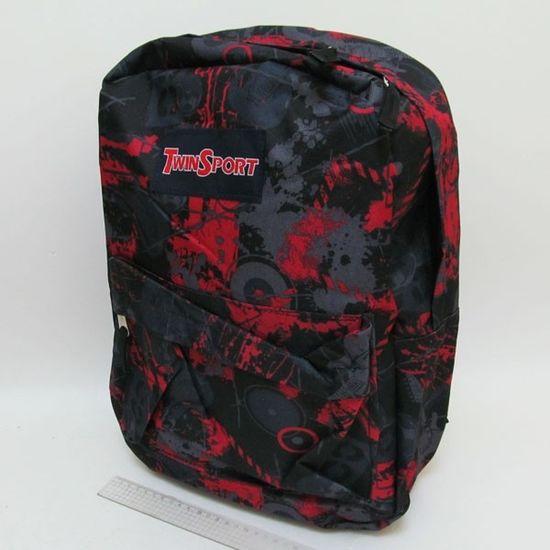 9022-2 Рюкзак с карманом Nowadays, красный, 42х30х13 см (5)