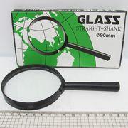 7805-90G Лупа d-90мм, стекл.линза, пластик.оправа (90-YВ) (YB19013-90) (10)