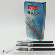Ручка гелева чорна 0.6 мм Hi-Pass gel Goldex 921