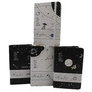 Блокнот А6 96 аркушів кремовий папір в лінію прошивний картонна обкладинка на гумці Space Josef Otten 9357-A6 (1/24/144)
