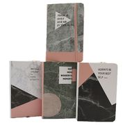 Блокнот А6 96 аркушів кремовий папір в лінію прошивний картонна обкладинка на гумці Мармур Josef Otten 9369-A6 (1/12/144)