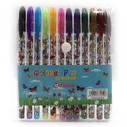Набір гелевих ручок з глітером 1.0 мм 12 кольорів Метелики Josef Otten DSCN9785-12 (1/12/288)