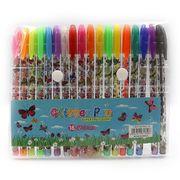 Набір гелевих ручок з глітером та додатковими неоновими кольорами 1.0 мм 18 кольорів Метелики Josef Otten DSCN9785-18 (1/10/160)