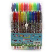 Набір гелевих ручок з глітером та додатковими неоновими кольорами 1.0 мм 24 кольори Метелики Josef Otten DSCN9785-24 (1/36/144)
